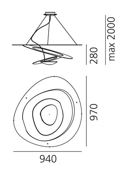artemide-pirce-sospensione-led-maatvoering-tabbers-nijmegen