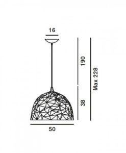 Diesel Rock Oro hanglamp maatvoeringTabbers Lichtdesign Nijmegen