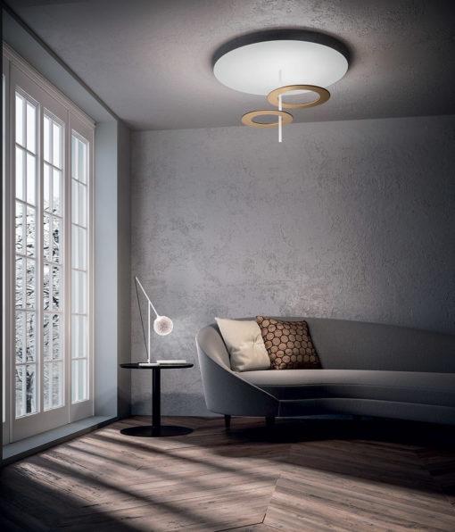 Hula Hoop 2-lichts wit goud Tabbers Lichtdesign Nijmegen (3)